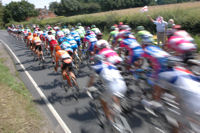 Tour De France - Bethersden, Kent, England, UK, GB - Peleton passes